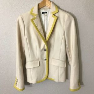J. Crew Cream 100% Wool Blazer